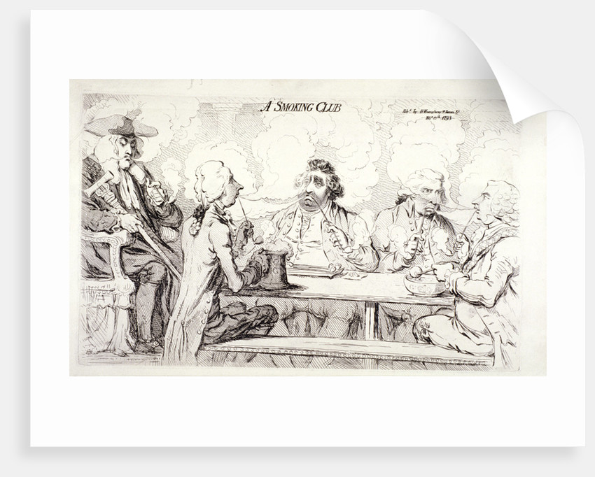A smoking club, House of Commons, London by