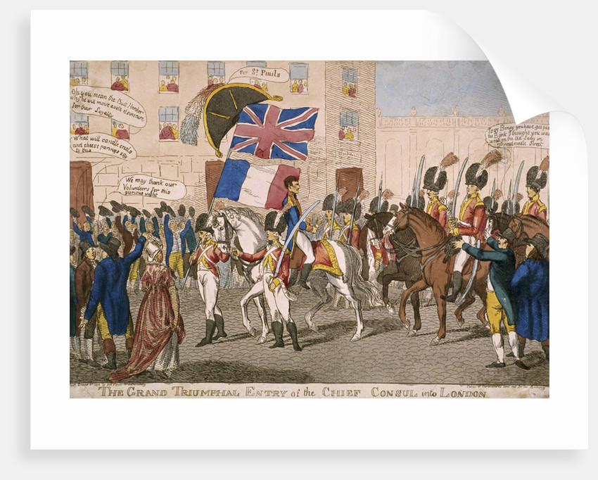 The grand triumphal entry of the Chief Consul into London by Anonymous