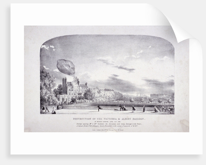 Destruction of the Victoria & Albert Balloon, Arlington St, Westminster by Anonymous