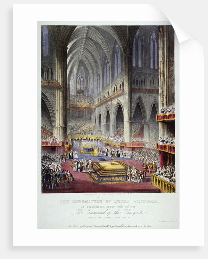 Coronation of Queen Victoria in Westminster Abbey, London by Anonymous