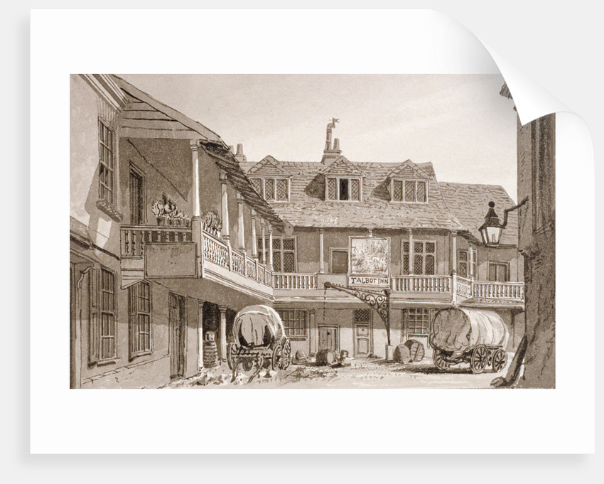 The Tabard Inn on Borough High Street, Southwark, London by