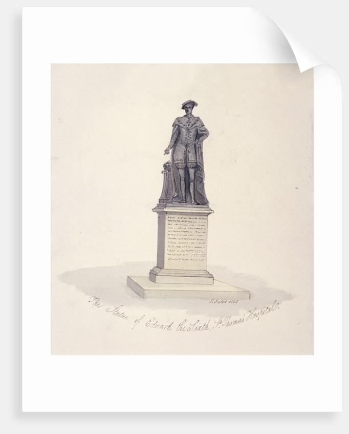 Statue of Edward VI in St Thomas's Hospital, Southwark, London by G Yates