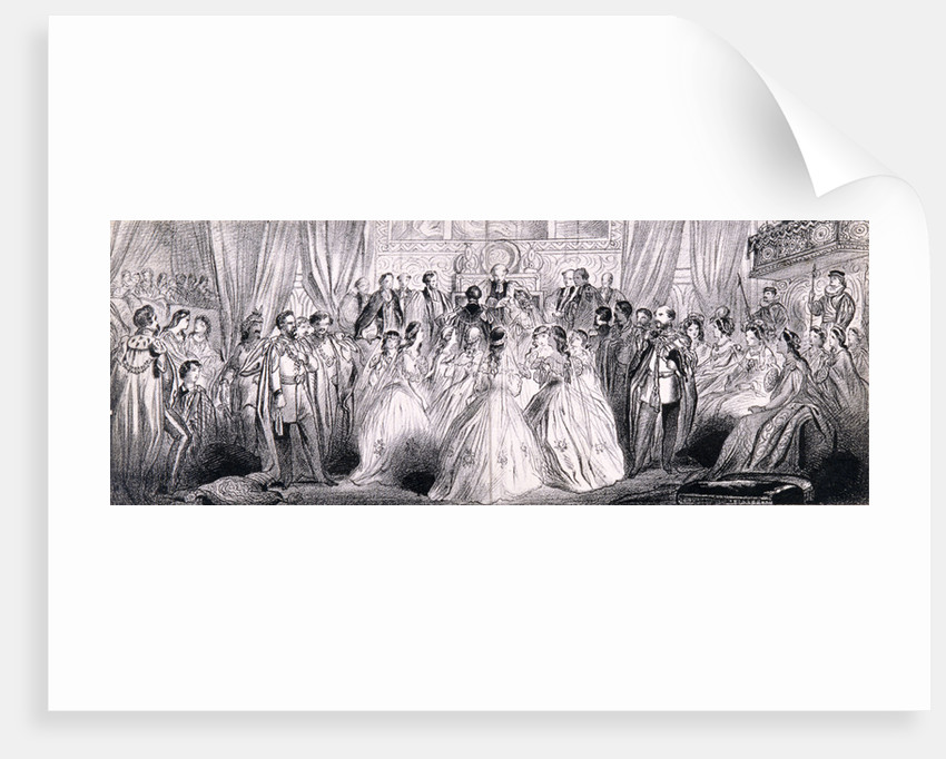Wedding ceremony of Prince Edward and Princess Alexandra in St George's Chapel at Windsor Castle by Anonymous