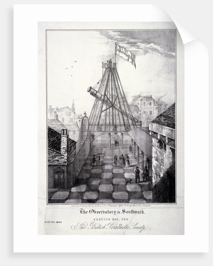 View of The Observatory in Southwark, London by Charles Bellamy