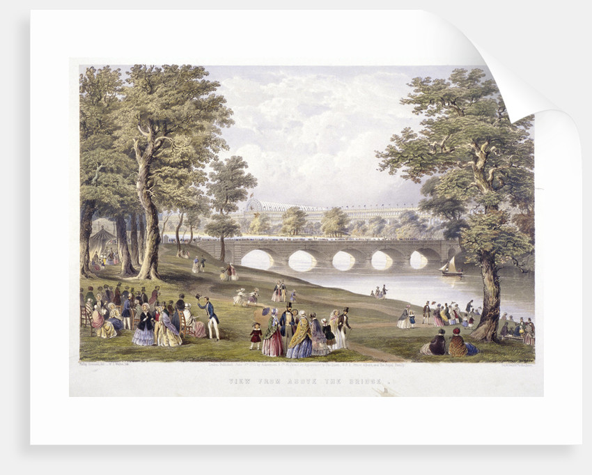 View from the bridge on the Serpentine towards Crystal Palace, London by Day & Son