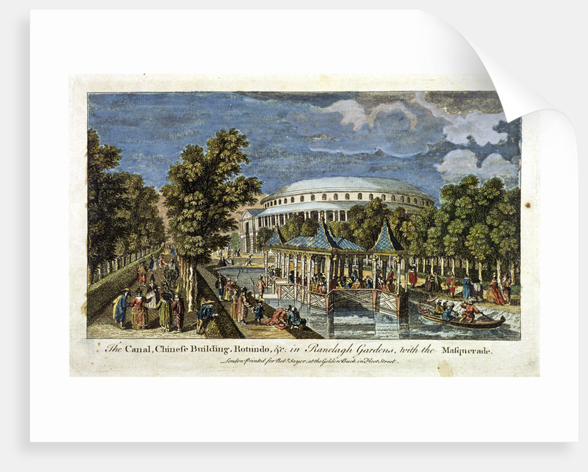 View of the Canal, Chinese Building and Rotunda in Ranelagh Gardens, Chelsea, London by Anonymous