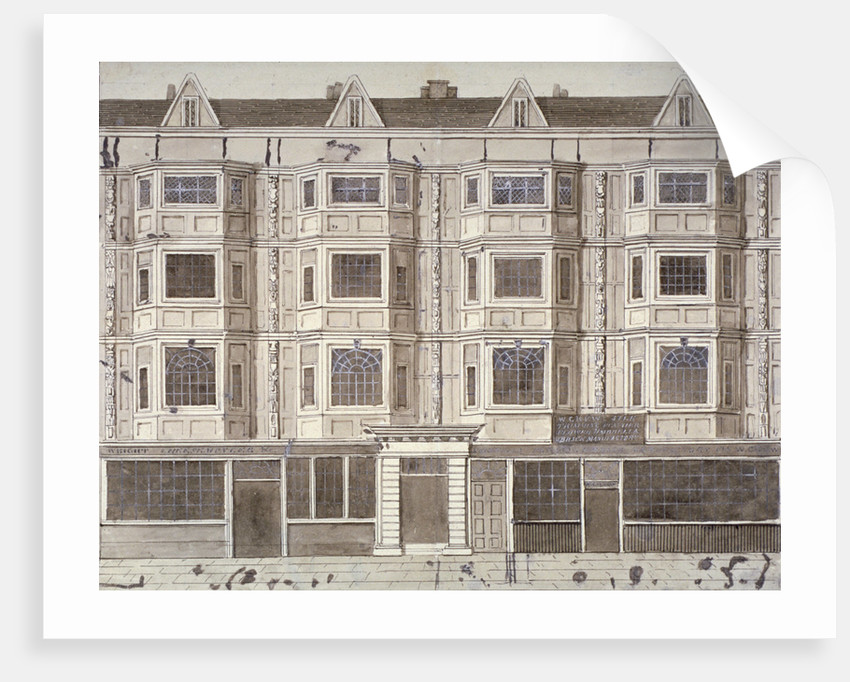 Aldersgate Street, London, c1820(?) by Anonymous
