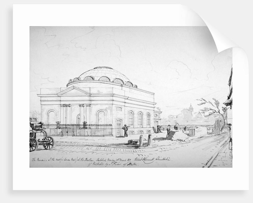 Albion Chapel, London by Robert Blemmell Schnebbelie