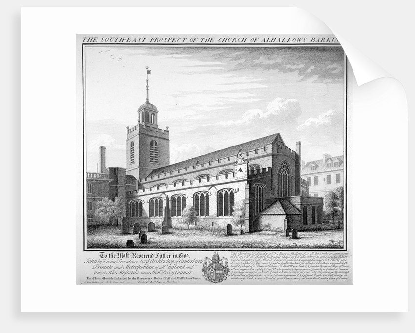 All Hallows-by-the-Tower Church, London by William Henry Toms