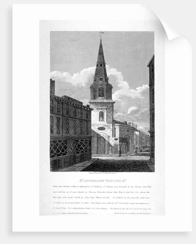 St Antholin, Watling Street, City of London by