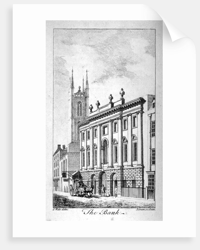 View of the Bank of England and St Christopher-le-Stocks by J Green