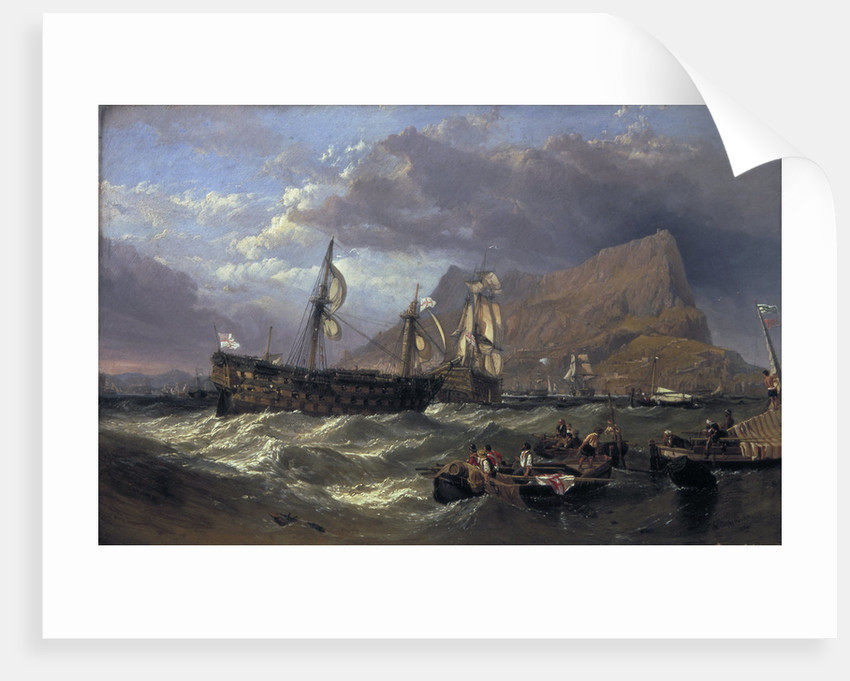 The 'Victory' towed into Gibraltar by Clarkson Stanfield