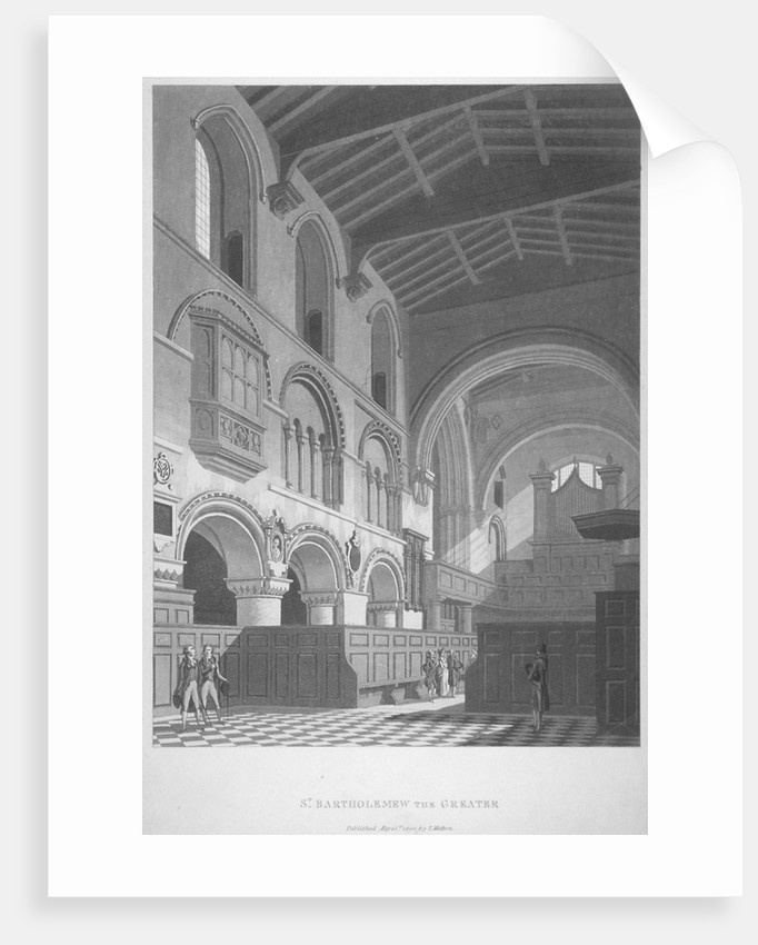 Interior view of the Church of St Bartholomew-the-Great, Smithfield, City of London by Anonymous