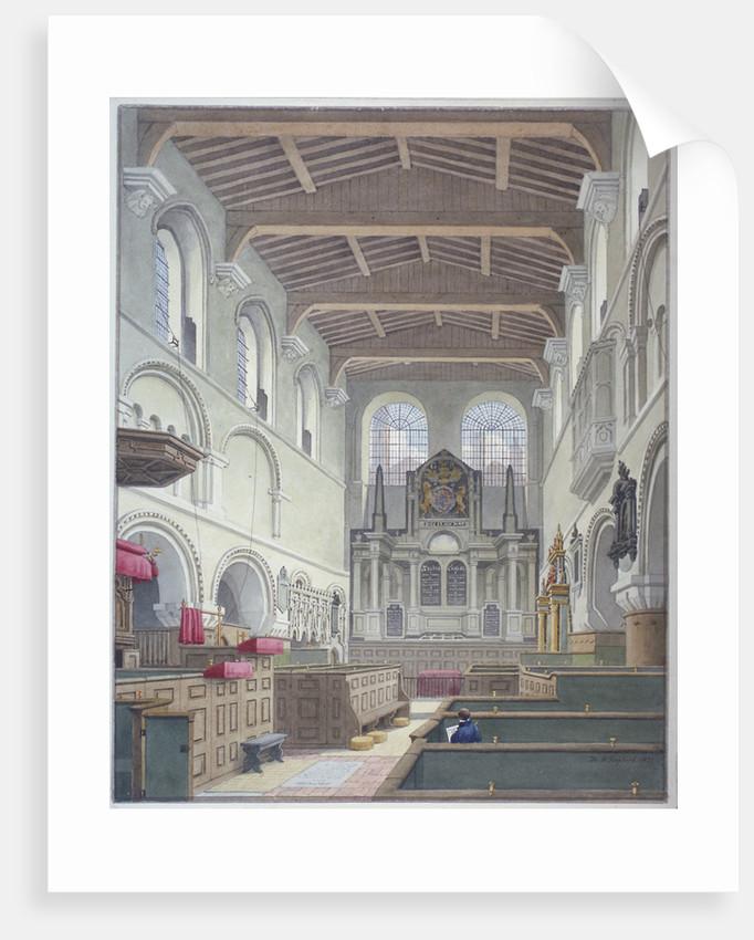 Interior view of the Church of St Bartholomew-the-Great, Smithfield, City of London by Thomas Hosmer Shepherd