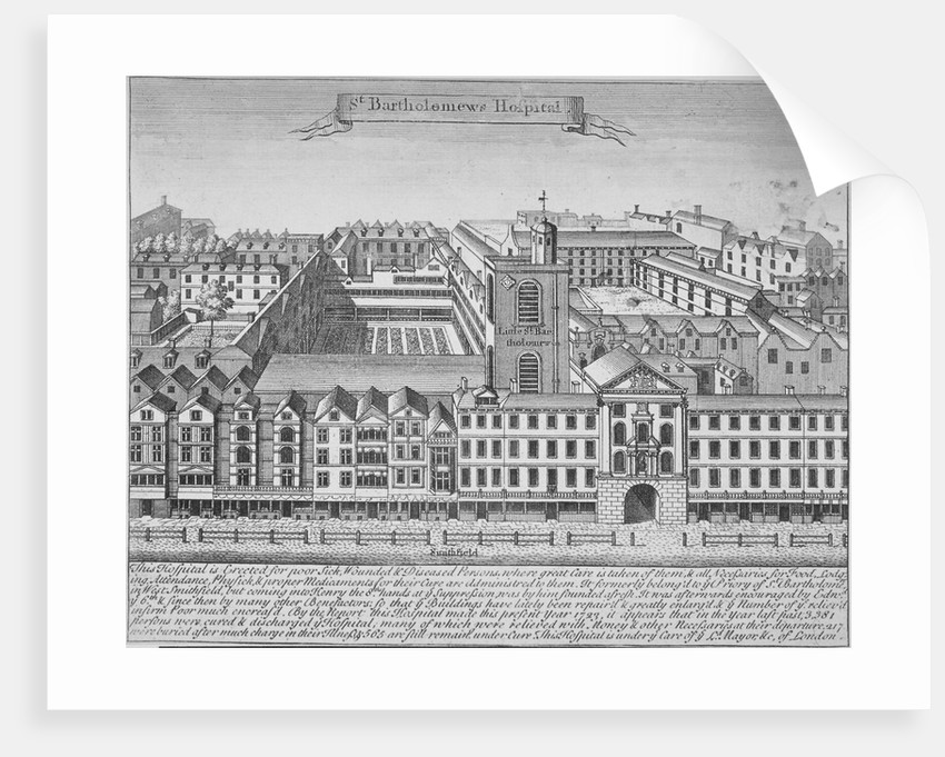 St Bartholomew's Hospital, Smithfield, City of London by Anonymous