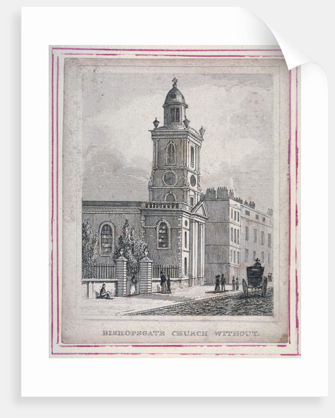 View of the Church of St Botolph without Bishopsgate, City of London by Anonymous