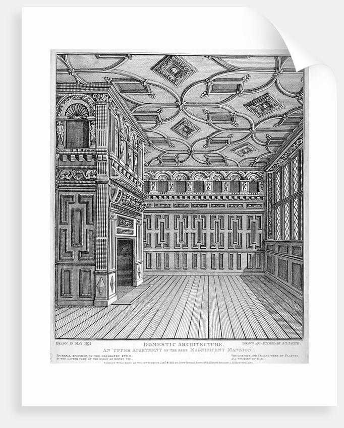 Interior view of Sir Paul Pindar's House, Bishopsgate, City of London by John Thomas Smith