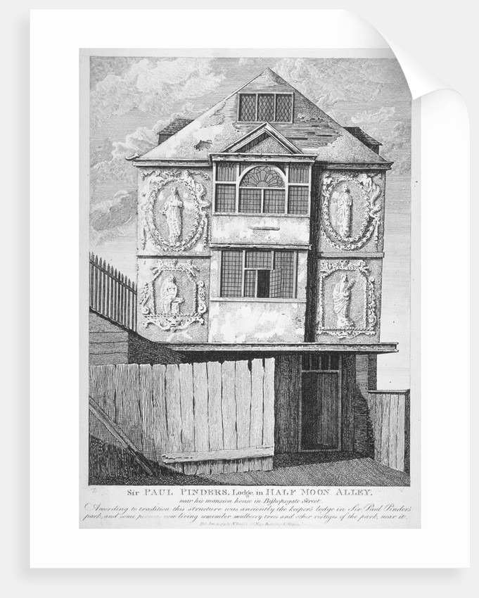Sir Paul Pindar's House, Bishopsgate, City of London by Anonymous