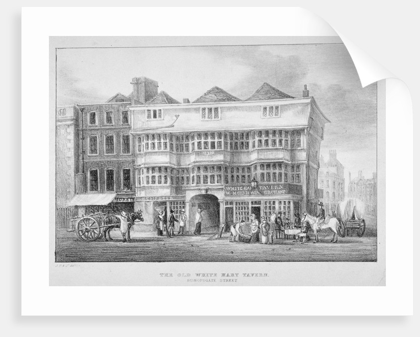 The White Hart Inn, Bishopsgate, City of London by Anonymous