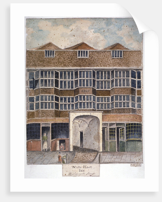 The White Hart Inn at no 119 White Hart Court, Bishopsgate, City of London by J Williams