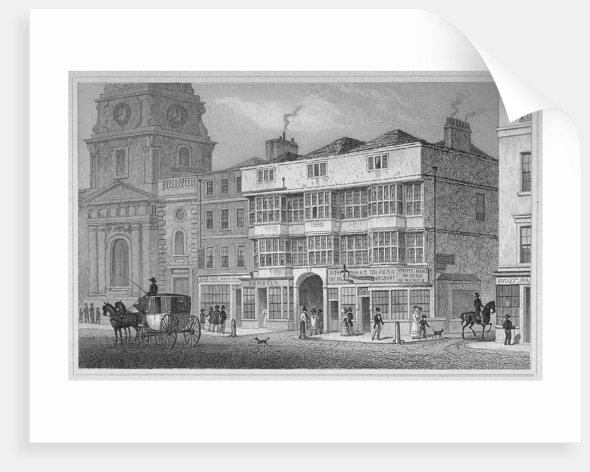 The White Hart Inn at no 119 White Hart Court, Bishopsgate, City of London by S Lacey