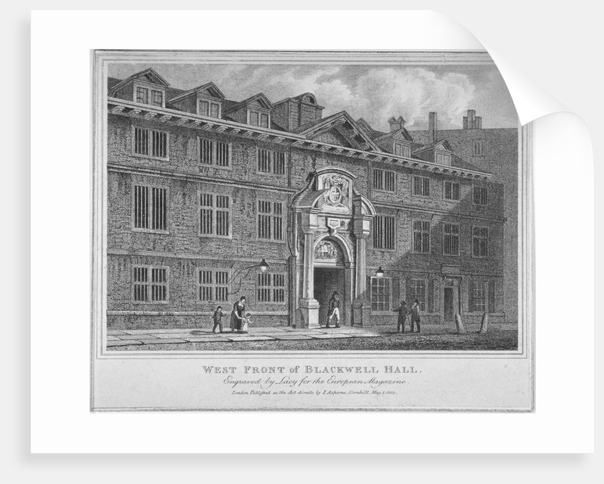 West front of Blackwell Hall, City of London by S Lacey