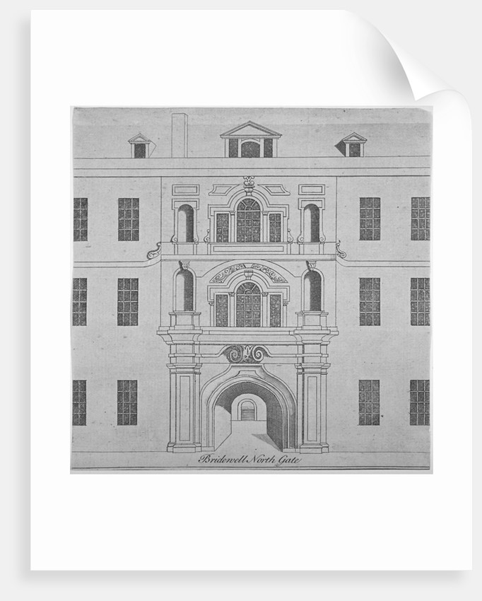 North gate of Bridewell, City of London by Anonymous