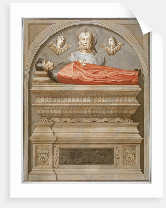 Monument to Dr John Yonge by Torrigiano in Rolls Chapel, Chancery Lane, City of London by Anonymous