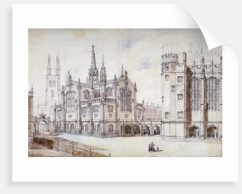 Christ Church, school hall and proposed new building, Christ's Hospital, City of London by Anonymous