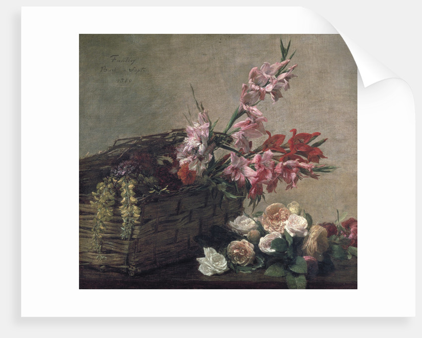 Gladioli and Roses by