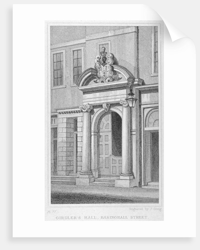 Entrance to Girdlers' Hall, Basinghall Street, City of London by John Greig
