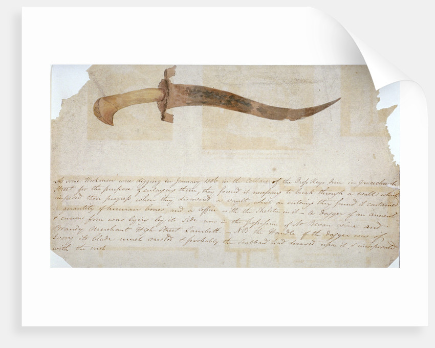 Dagger found in the cellars of the Cross Keys Inn, Gracechurch Street, City of London by Anonymous