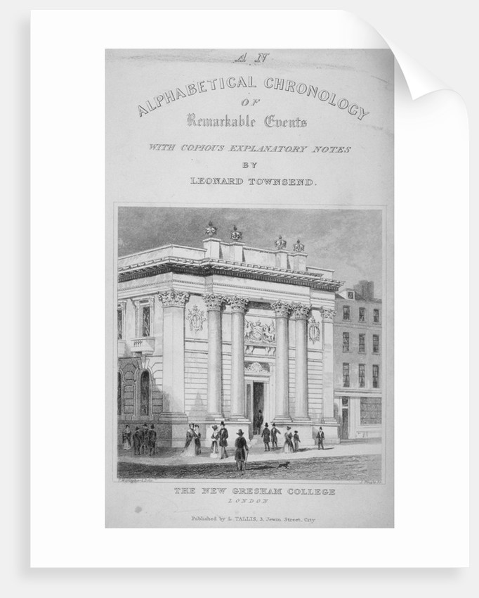 Gresham College, Basinghall Street, City of London by James Tingle