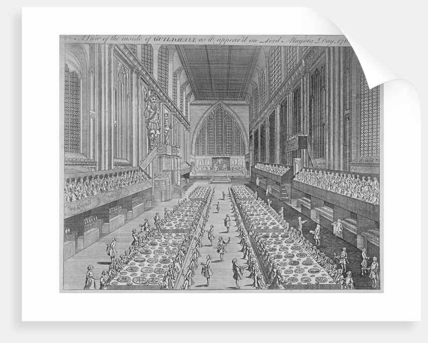Interior view of the Guildhall on Lord Mayor's Day, City of London by Anonymous