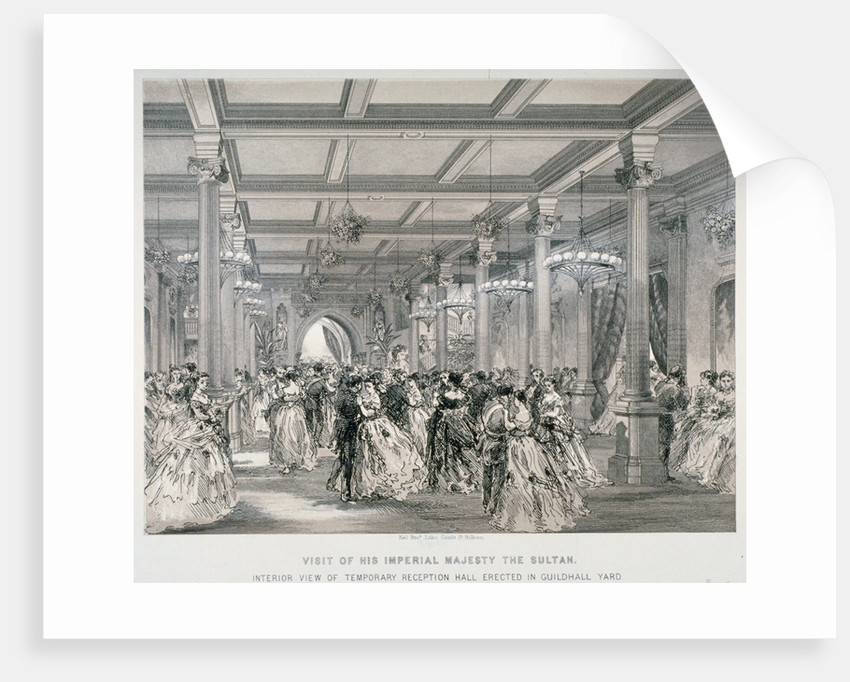 Reception for the Sultan of Turkey, Guildhall, City of London by Kell Brothers