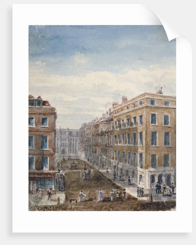 View of King Street, looking north from Cheapside to the Guildhall, City of London, 1840 by Thomas Hosmer Shepherd