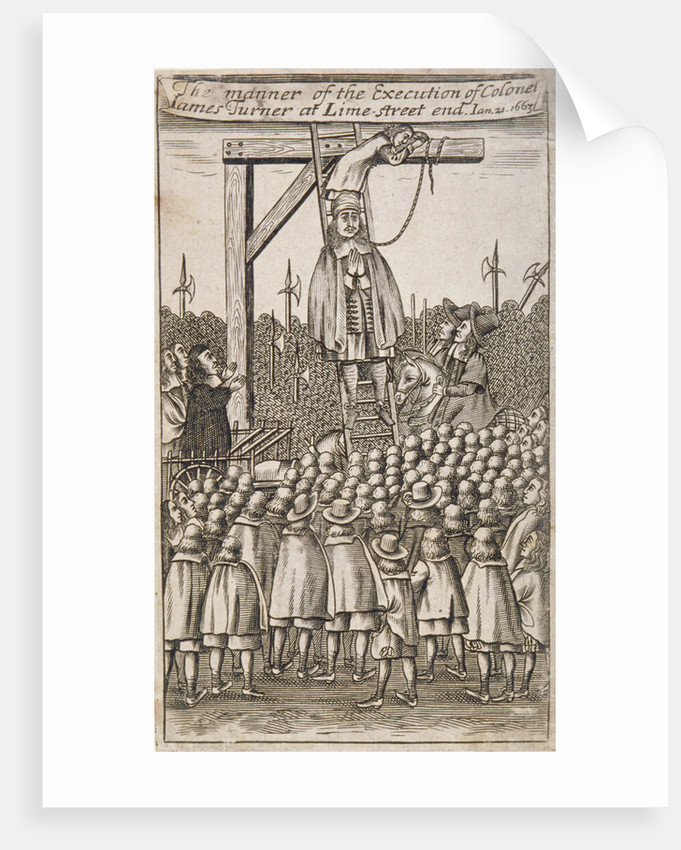 Execution of a criminal, Lime Street, City of London by Anonymous