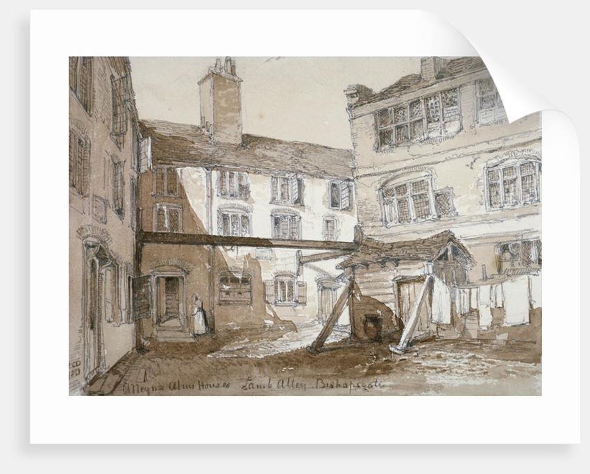Alleyn's Almshouses, Gingerbread Court, Lamb Alley, City of London by Thomas Colman Dibdin