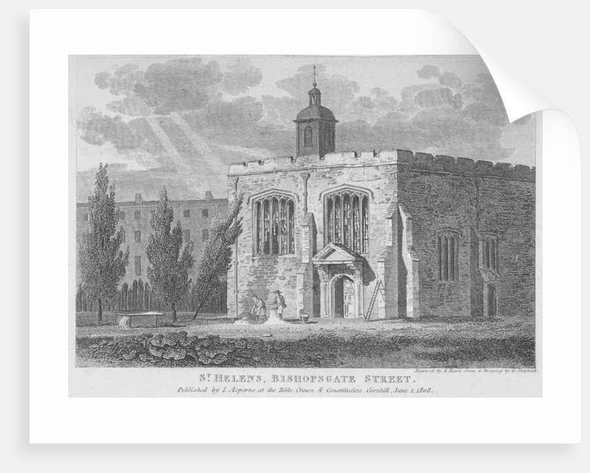Church of St Helen, Bishopsgate, City of London by Samuel Rawle