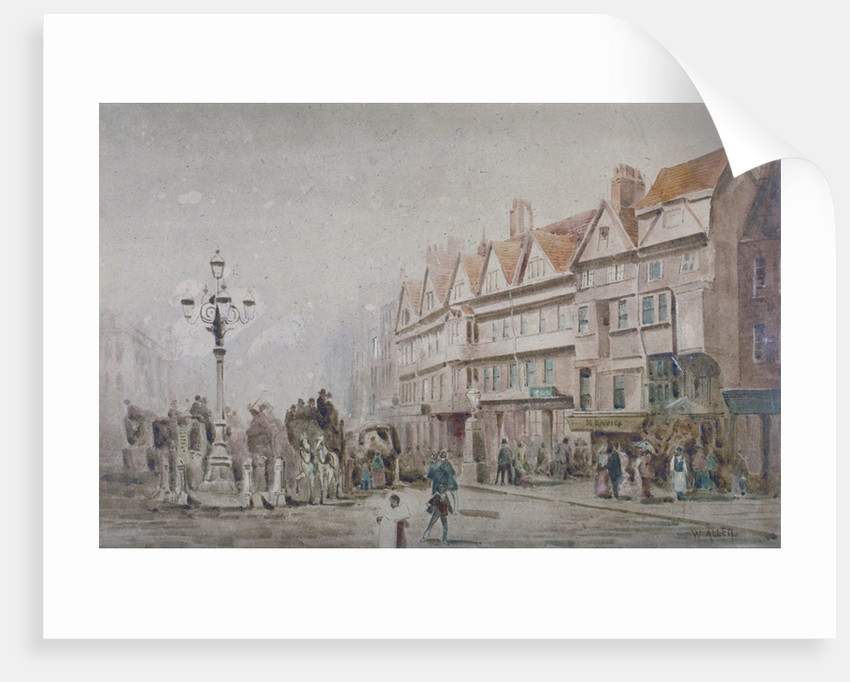 View east along the south side of Holborn and Stable Inn, London by