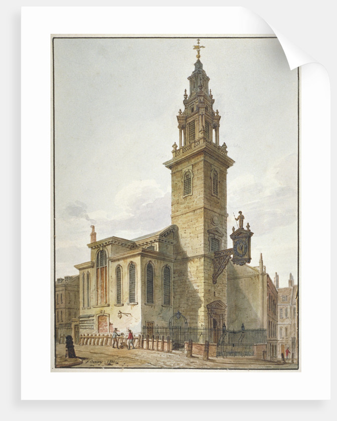 View of the Church of St James Garlickhythe, City of London by John Coney