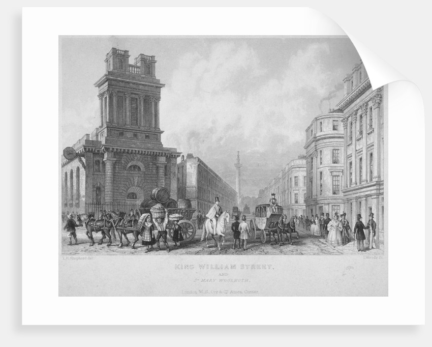 Church of St Mary Woolnoth, City of London by John Woods