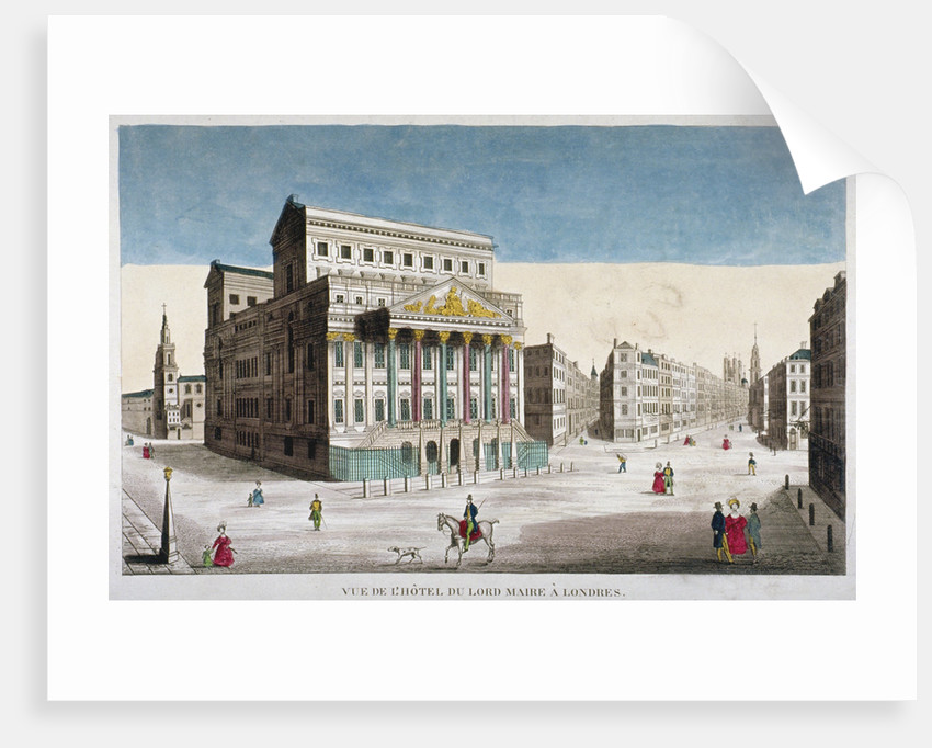 View of Mansion House, Cornhill and Lombard Street, City of London by Anonymous