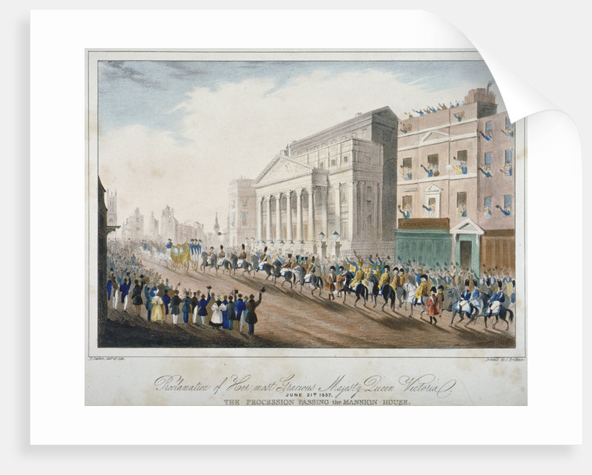 Procession passing Mansion House, City of London by E Sexton