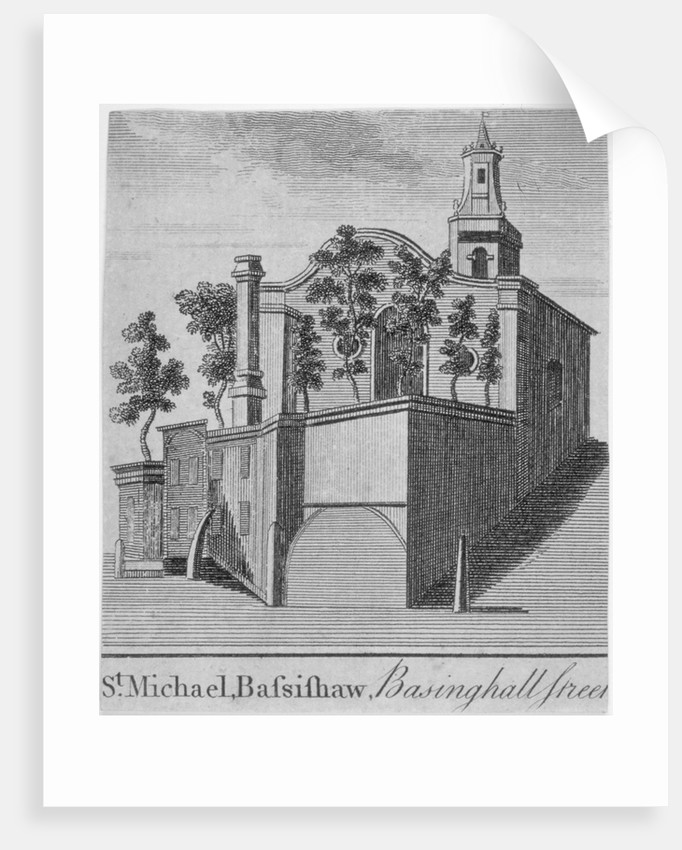 Church of St Michael Bassishaw, Basinghall Street, City of London by Anonymous