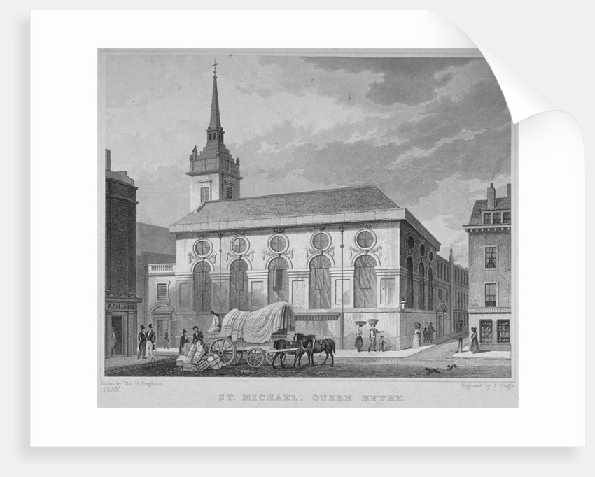 Church of St Michael, Queenhithe, City of London by James Tingle