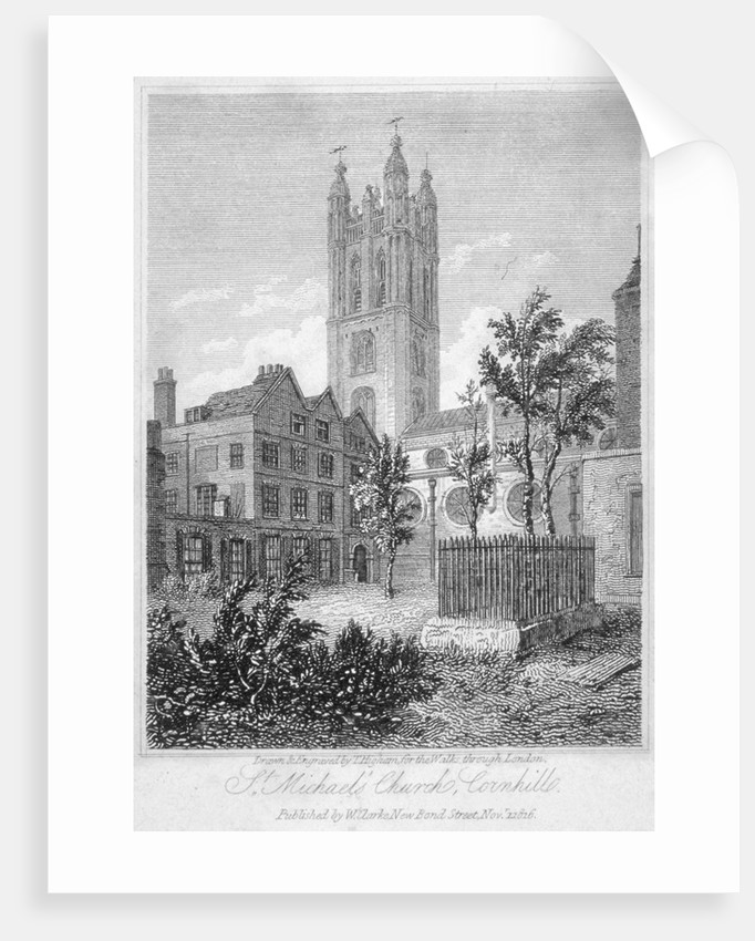 View from the south of Church of St Michael, Cornhill, City of London by