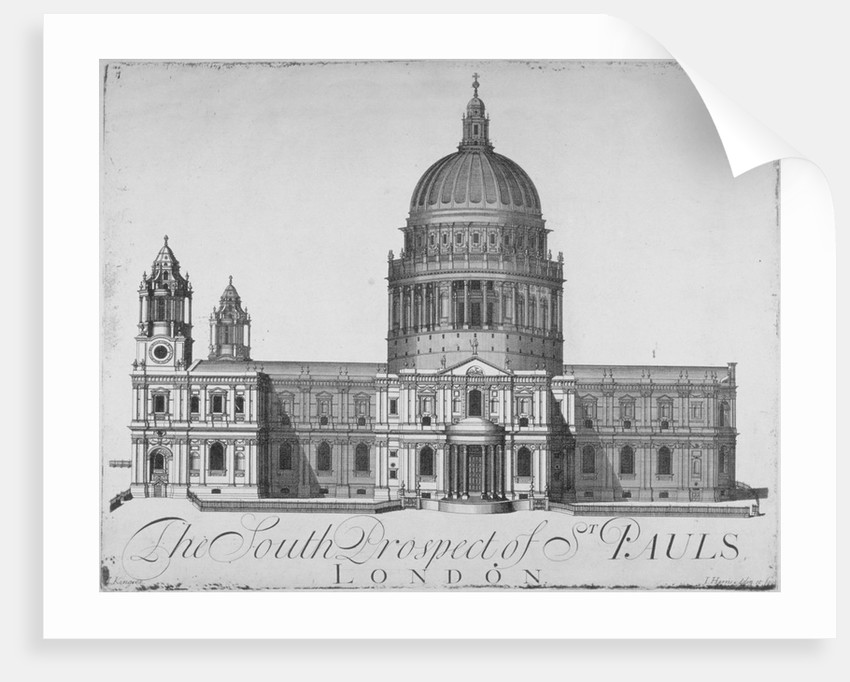 South view of St Paul's Cathedral, City of London by