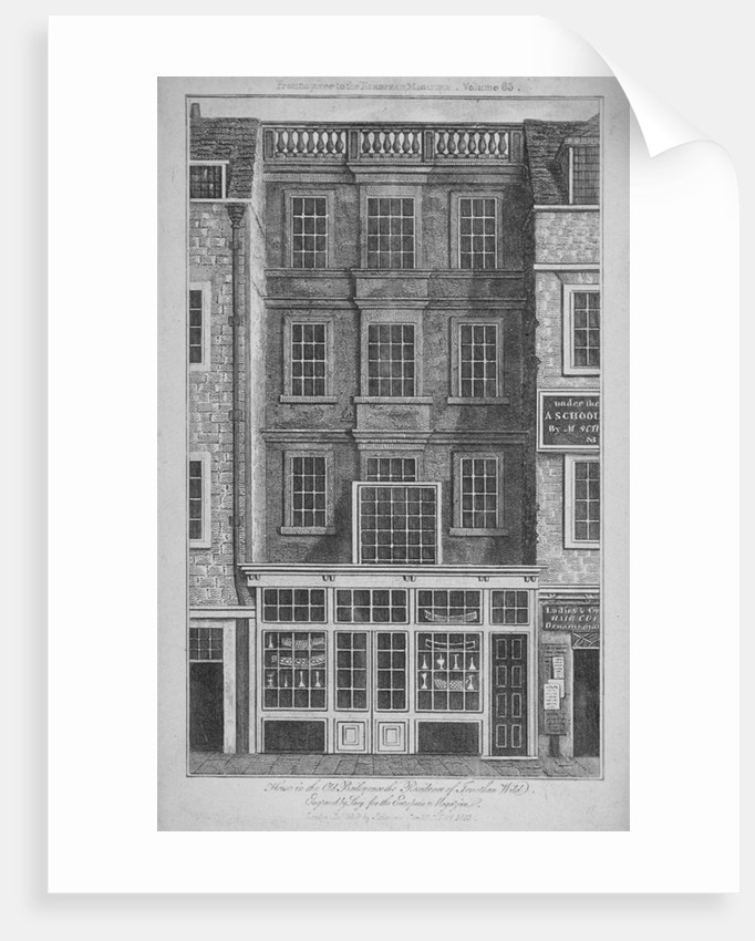 House which was once the residence of Jonathan Wild in Old Bailey, City of London by
