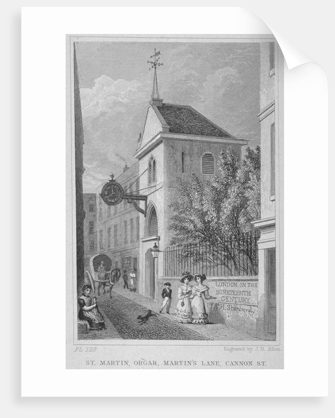 Church of St Martin Orgar, Martin Lane, City of London by James B Allen